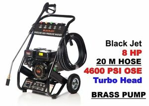NEW BLACK JET 8 HP HIGH   PRESSURE WATER WASHER CLEANER  8 HP BRASS PUMP CLEANER