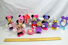 LOT of 6 Disney Minnie Mouse Daisy Bow-tique snap on~dress up dolls w/access.