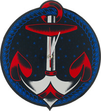 72015 Retro Nautical Anchor Wall Clock Tatto Shop Garage Sailor Pinup Sourpuss