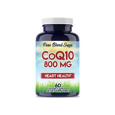 CoQ10 800 MG Heart Health Veggie Dietary Supplement (60 Capsules)