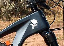 Punisher Totenkopf Fahrrad MTB Aufkleber Sticker 2 Stk.