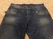 Hudson Mens Jeans Denim Hunter Work Pants Distressed Vintage Size 38 $245 New