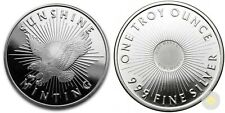 1 oz .999 Fine Silver Round, Sunshine Minting, Brilliant Unc One Troy Ounce