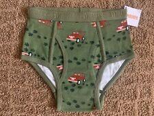 Nwt Gymboree Boys Briefs Underwear Olive Jeep Medium 7-8