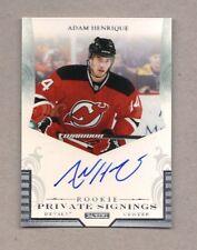 2011/12 Panini Private Signings ADAM HENRIQUE Rookie Auto Devils Mint SP R-AH