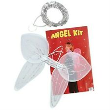 Angel Set White Wings and Silver Christmas Xmas Halo Fancy Dress Accessory P1980