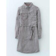 BODEN New Popover Shirt Dress - Blue Stripe - UK 14 L
