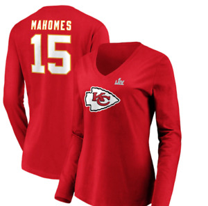 D69 Women's M Super Bowl LIV Bound Halfback Player Name & Number Long Sleeve