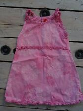 Robe d'été rose à bretelles motifs fleurs TISSAIA Taille 4 ans
