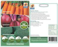 Vegetable Collection Seeds- 5 Mtr Seed Tape 1 Packet Carrot Beetroot Broccoli