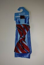 Countess Mara Bow Tie Red Blue Striped New