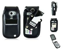 Doro PhoneEasy 626 For Rugged,Heavy Duty Leather Fitted Flip Phone Cover Case