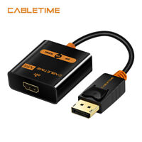 Cabletime Active DisplayPort DP to HDMI Adapter Cable For Macbook PC Male to F