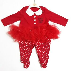 Nutmeg Red Santa's Little Helper Christmas Babygrow Outfit Age 3-6 Months Romper