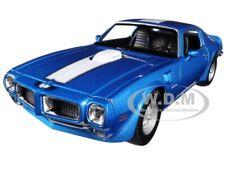 1972 PONTIAC FIREBIRD TRANS AM BLUE MET. 1/24-1/27 DIECAST MODEL CAR WELLY 24075