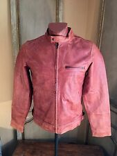 LUCKY BRAND Mens Motorcycle Bonneville Cafe Racer Lthr Jacket Size Medium