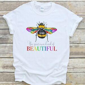 LGBTQ Rainbow Bee T Shirt Beautiful Pride Equality Unisex Gift - Premium Quality