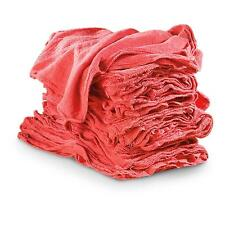 50 RED SHOP TOWELS RAGS INDUSTRIAL CLEANING AVERAGE 14X14 LARGE BRAND NEW