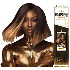 Sensationnel Empire Gold 100% Human Hair Straight Yaki Extension with Argan Oil