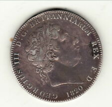 GREAT BRITAIN GEORGES III CROWN   SILVER 1820