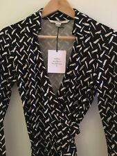Diane von Fürstenberg Wrap Dress Wickel Kleid Seide US 6