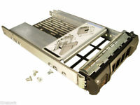 "DELL PowerEdge 2.5"" to 3.5"" SAS/SATA Hard Disk Adaptor + Caddy F238F 9W8C4 Y004G"