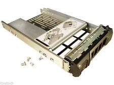 """DELL PowerEdge 2.5"""" a 3.5"""" SAS/SATA ADATTATORE HARD DISK + CADDY F238F 9W8C4 Y004G"""