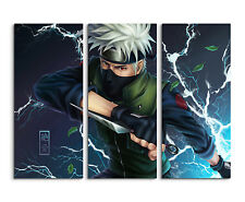 130x90cm - Kakashi Naruto Boy Wandbild Panorama Leinwand Keilrahmen
