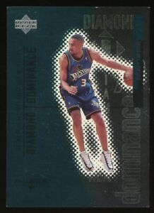 1999 Upper Deck Black Diamond Dominance Grant Hill Pistons 39/100