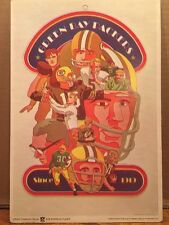 1970 Fleer Football Big Signs Green Bay Packers (7 3/4 x 11 1/2 in size)