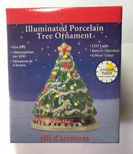 Mr. Christmas Illuminated Porcelain Christmas Tree Ornament LED Battery Operated