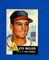 1953 Topps Baseball CARD #183 STU MILLER EX-MT (MC) ST. LOUIS CARDINALS