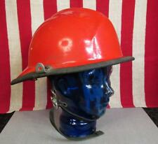 Vintage Cairns & Bros Red Firefighters Helmet Fireman Turnout Fire Co. Rescue