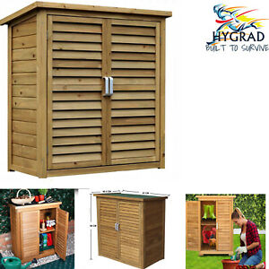 HYGRAD Outdoor Storage Cabinet Door Waterproof Shed Wooden Dry Cupboard Tool Box