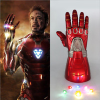 Avengers Endgame Iron Man Infinity Gauntlet Gemstone Movable LED Light Gloves