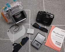 Canon PowerShot G12 Camera & Original Canon WP-DC34 Underwater Housing Excellent