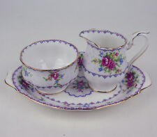 Small Cream with Sugar Bowl and Regal Tray Royal Albert Petit Point vintage