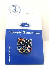 33766 AUSTRALIAN FLAG OLYMPIC RINGS SYDNEY 2000 GAMES PIN BADGE COLLECT RARE