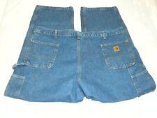 Carhartt Mens Jeans W46 x L30 Blue Denim Dungaree Fit Carpenter Style Big & Tall