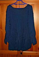 Shirt  Tunika  Bluse  von Esprit in blau - dunkelblau Größe 44 NEU