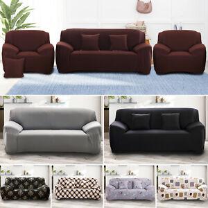 1-4 Sitzer Sofahusse Sofabezug Abdeckung Überwürfe Stretchhussen Universal