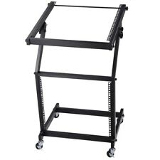 "9U 19"" Rack Mount Mixer Case Stand Studio Equipment Cart Stage Amp DJ Adjustable"