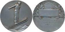Course Militaire à Ski, 1° Prix, 1933, médaille en bronze argenté, Fraisse(3764)