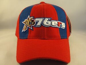 Philadelphia 76ers NBA Vintage Strapback Cap Hat American Needle Red Blue
