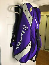 Harrow Sports Tour Purple Racquet Backpack Bag With Shoulder And Handle Carrier