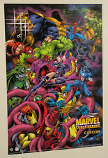 1996 Marvel Capcom Avengers poster:X-Men/Spiderman/Hulk/Iron Man/Captain America