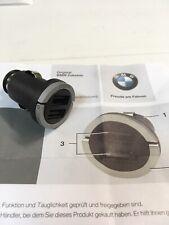 3 X Genuine BMW Dual USB Charger iPhone Charging Adaptor OEM # 84109363321