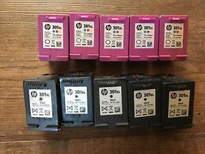 HP301 XL Empty Ink Cartridges x 10 - Black x 5 Colour x 5