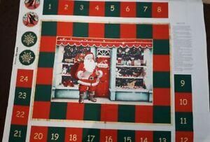 New 100% Cotton Large Fabric Panel Advent Calendar W112 cm x L 90 cm