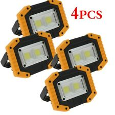 4XSolar LED COB Work Light Outdoor Camping Emergency Flood Lamp USB Rechargeable